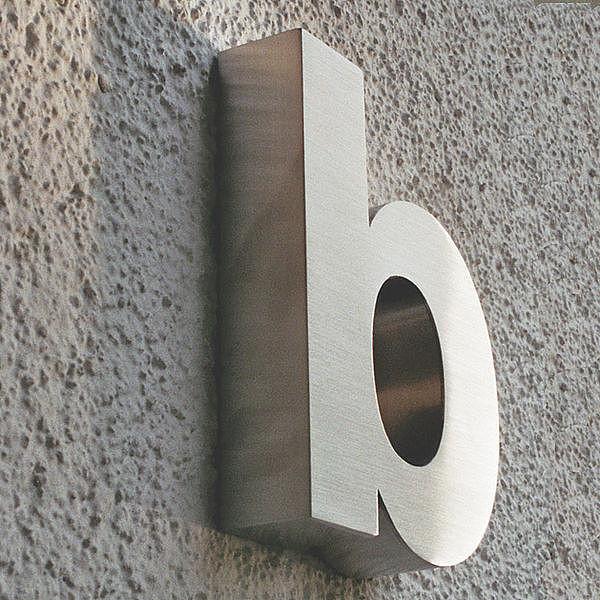 3d kleinbuchstabe b aus edelstahl h he 160 mm und tiefe for Mobelgriffe edelstahl 160 mm