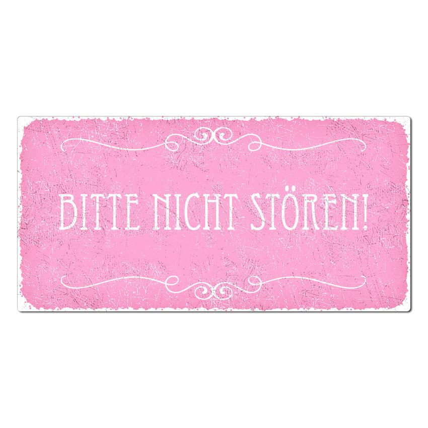 Bitte nicht st ren vintage schild 200 x 100 mm rosa for Gartendeko schilder
