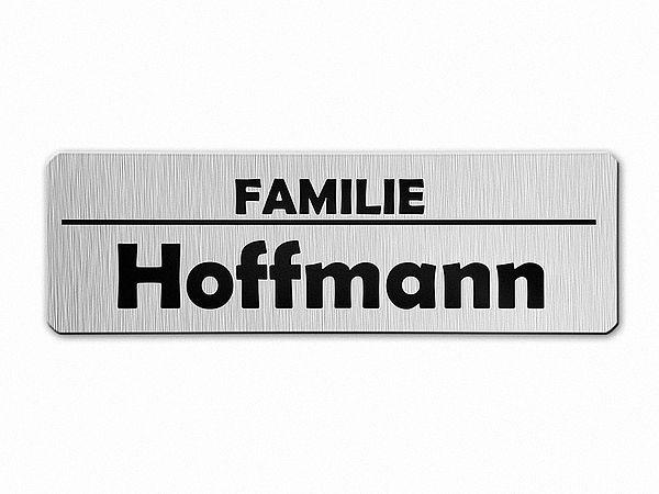 briefkasten namensschild aus aluminium line hausnummern und schilder online kaufen. Black Bedroom Furniture Sets. Home Design Ideas