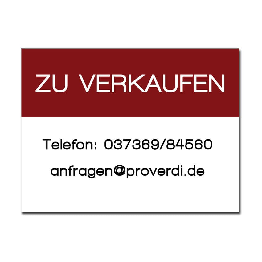 Dibondschild zu verkaufen gr e 420 x 300 mm hausnummern for Gartendeko schilder