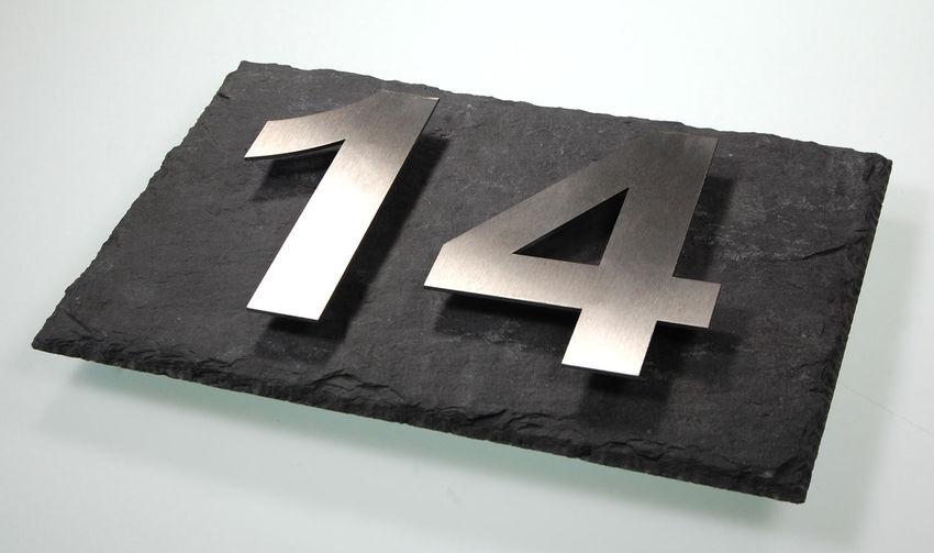 Bruchstrich//Bindestrich 6mm St/ärke ca 120mm H/öhe Schiefer Hausnummer aus echtem Schiefer gefertigt