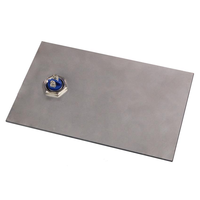 klingelschild aus schiefer und edelstahl 17 x 12 cm. Black Bedroom Furniture Sets. Home Design Ideas