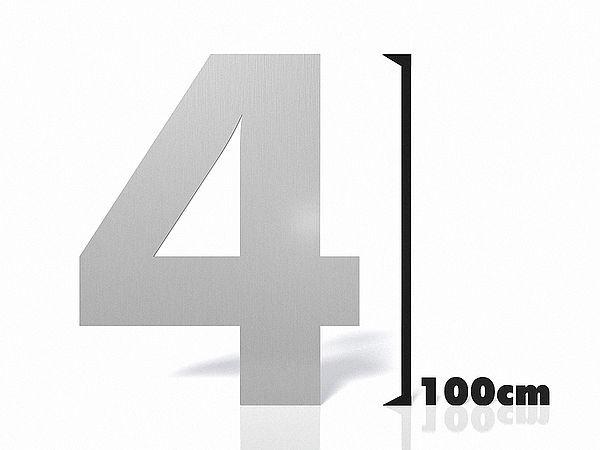 hausnummer edelstahl gro zahl 4 hausnummern und schilder online kaufen. Black Bedroom Furniture Sets. Home Design Ideas