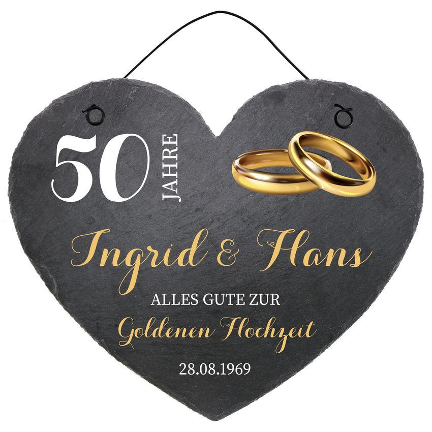 Herz Aus Schiefer In Der Größe 24 Cm Goldene Hochzeit Schilder Online Kaufen