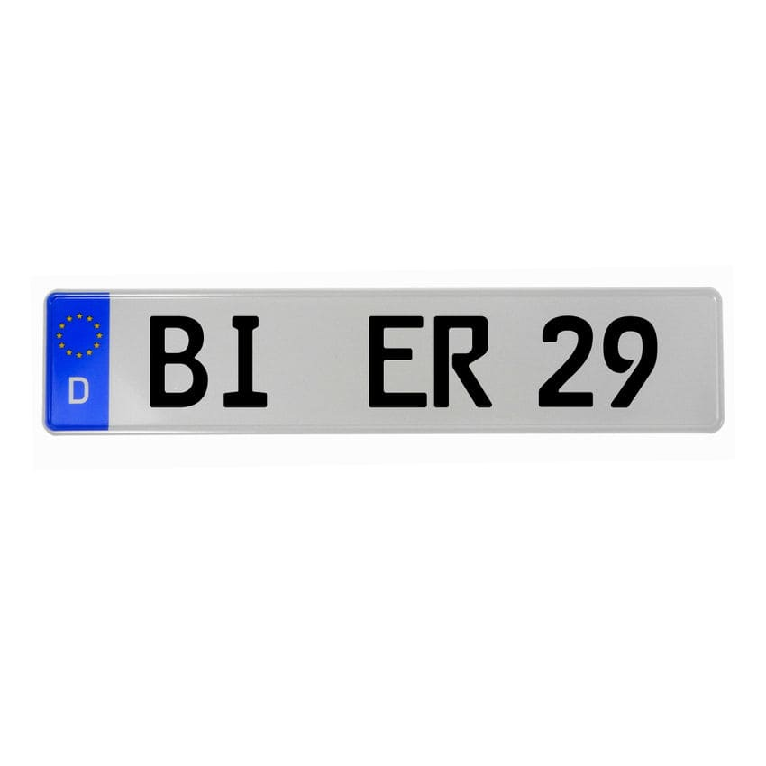 Kennzeichen im deutschen Format für Fahrradträger - Hausnummern und ...