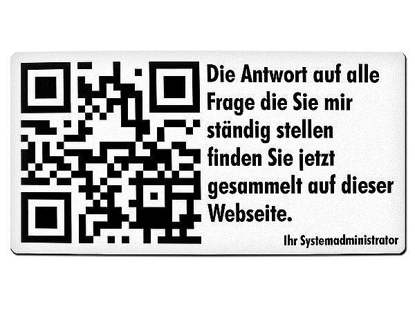 QR-Code Türschild aus Aluminium mit Wunschtext - Hausnummern und ...