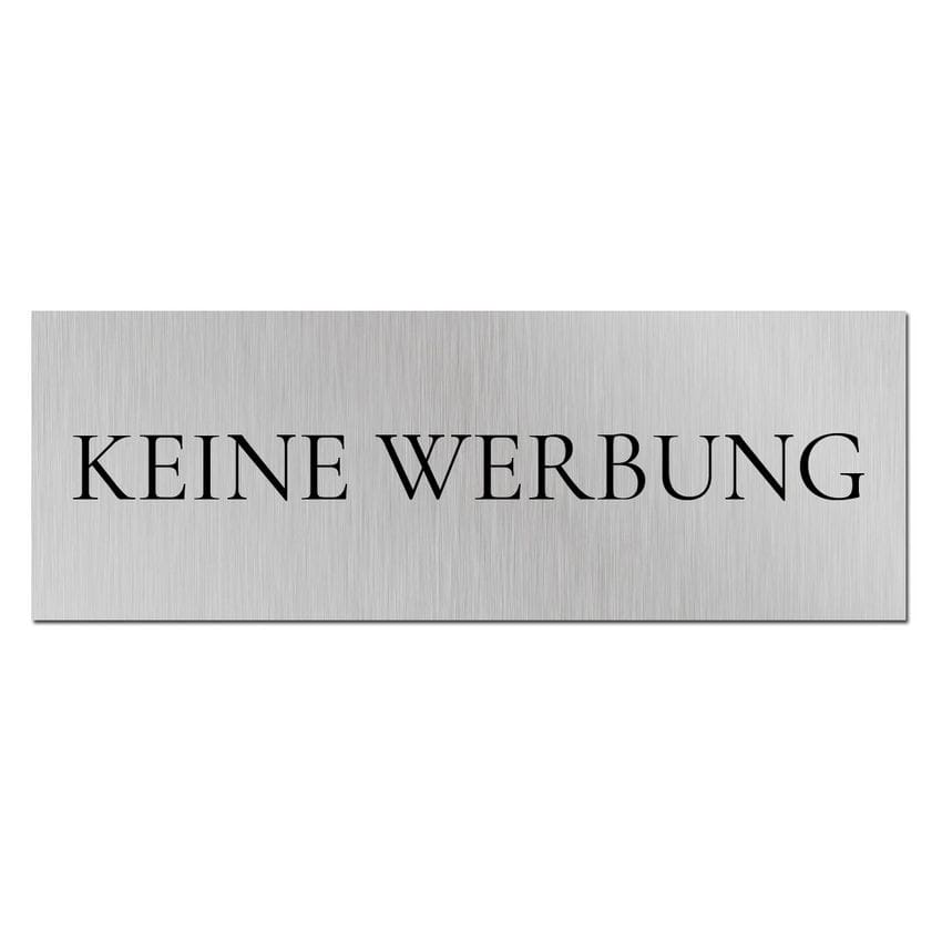 schild f r den briefkasten keine werbung bitte. Black Bedroom Furniture Sets. Home Design Ideas
