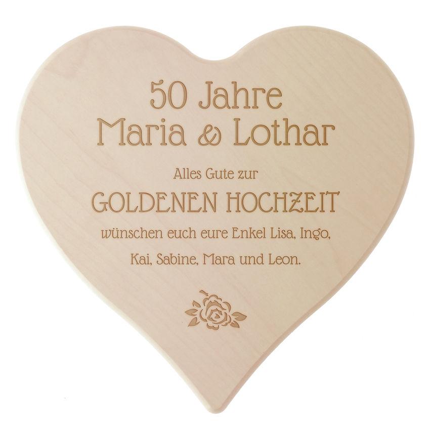 Schneidebrett Zur Goldenen Hochzeit Gravur Schilder Online Kaufen