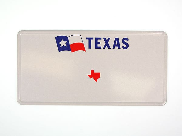 texas plate mit flagge und individuellem wunschtext in folienschrift hausnummern und schilder. Black Bedroom Furniture Sets. Home Design Ideas
