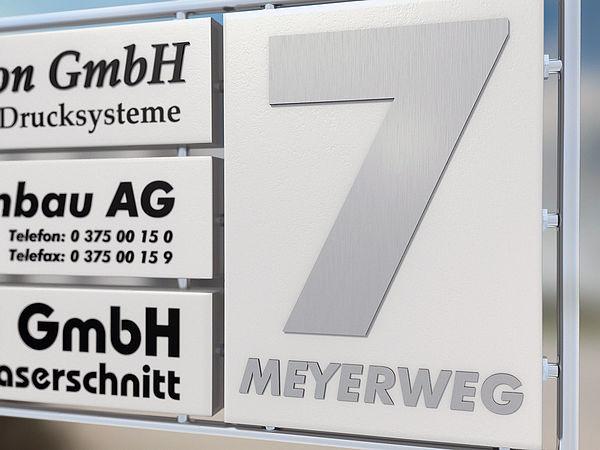 V2A Edelstahl - große Zahlen als Hausnummer - Hausnummer 6