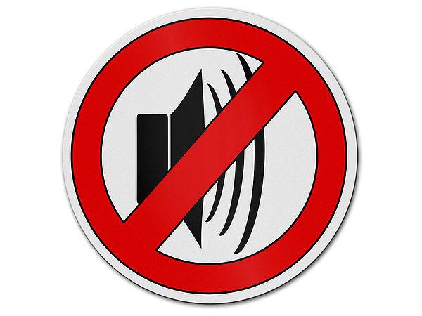 Verbotszeichen l rmbel stigung aus aluminium hausnummern for Gartendeko schilder