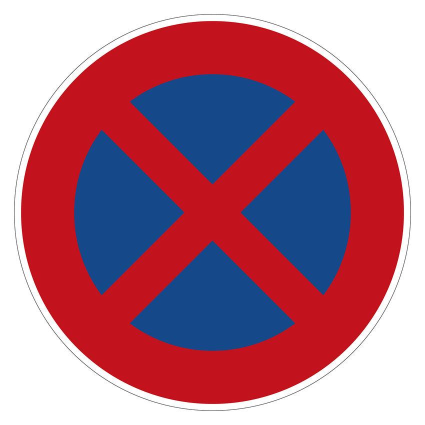 Verkehrszeichen absolutes halteverbot nach stvo for Gartendeko schilder