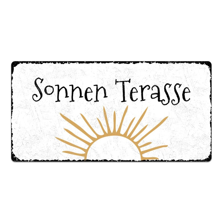 vintage schild mit wunschtext 300 x 150 mm hausnummern. Black Bedroom Furniture Sets. Home Design Ideas