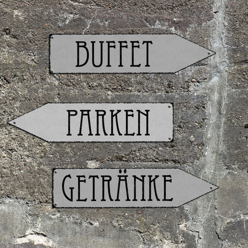 Wegweiser Buffet Schild Als Partydeko 415 X 10 Cm Hausnummern