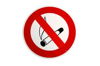 gro es rundes 41cm durchmesser rauchen verboten schild. Black Bedroom Furniture Sets. Home Design Ideas