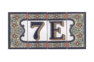 Spanische Fliesen Aus Keramik Buchstabe G Hausnummern Und - Spanische fliesen kaufen