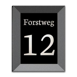 led hausnummer mit familienname und nummer