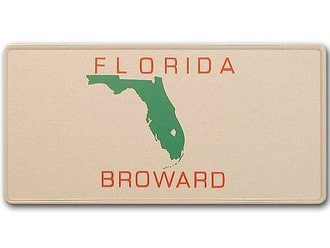 Florida-Boosterplate -Broward- mit individuellem Wunschtext