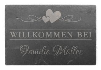 Türschild aus Schiefer 30 x 20 cm - Design Vintage - Hausnummern und ...