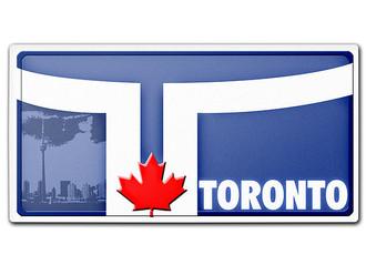 kanada nummernschild toronto mit individuellem wunschtext hausnummern und schilder online kaufen. Black Bedroom Furniture Sets. Home Design Ideas