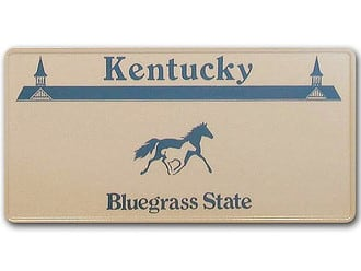 Kentucky-Boosterplate -Bluegrass State- mit individuellem Wunschtext