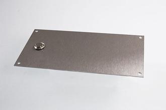 klingelschild aus edelstahl 200 x 100 mm klingel hausnummern und schilder online kaufen. Black Bedroom Furniture Sets. Home Design Ideas