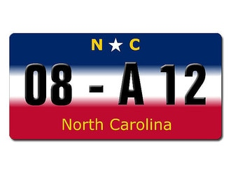 North Carolina USA Dekoschild mit Wunschtext …