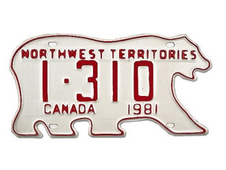 Nummernschild aus Kanada - Northwest Territories