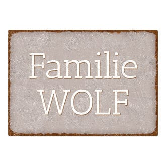 Schild Im Shabby Look Mit Wunschtext Taupe A3 Extra Large