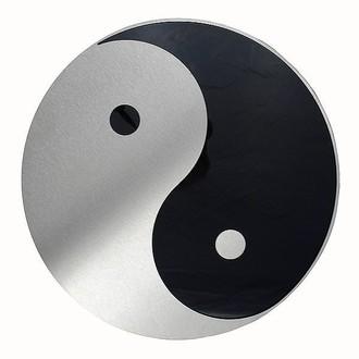 schild yin und yang aus edelstahl hausnummern und schilder online kaufen. Black Bedroom Furniture Sets. Home Design Ideas