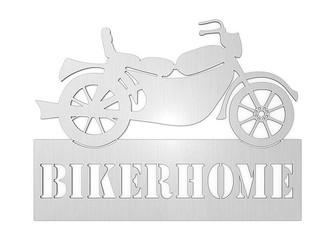 t rschild aus edelstahl motiv motorrad mit wunschtext typ 25 hausnummern und schilder online. Black Bedroom Furniture Sets. Home Design Ideas