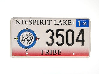 US Nummernschild ND Spirit Lake - original