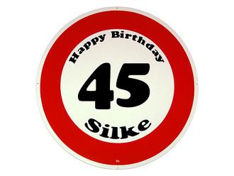 Verkehrschild Happy Birthday Geschenk Zum 45 Geburtstag