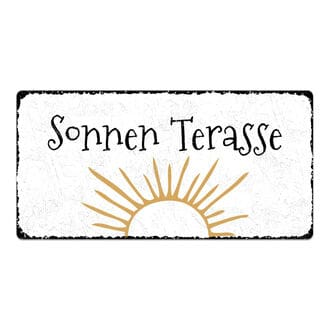 vintage schild mit wunschtext 300 x 150 mm hausnummern und schilder online kaufen. Black Bedroom Furniture Sets. Home Design Ideas