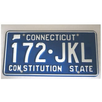 US-Nummernschild Connecticut