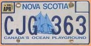 Kanadisches Nummernschild Nova Scotia