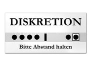 Türschild in weiß - Diskretion