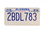 US Nummernschild Alabama - original