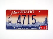 US-​Nummernschild Idaho - Famous Potatoes - original