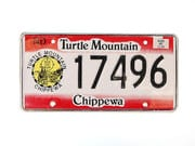 US Nummernschild North Dakota - Turtle Mountain - Chippewa - original